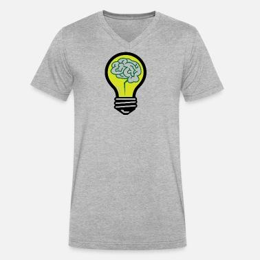 An Idea Popped Up! Light Bulb With A Brain! Men's Premium T-Shirt - sun  yellow