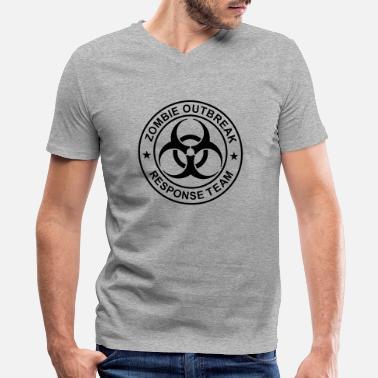 Zday ZORT Generic 1-Color Zombie 6.8x - Men's V-Neck T-Shirt
