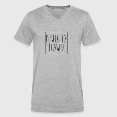 Perfectly Flawed - Men's V-Neck T-Shirt by Canvas