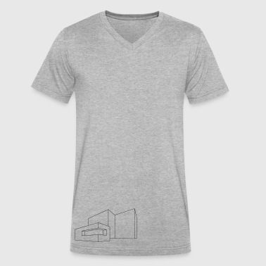 Structure - Men's V-Neck T-Shirt by Canvas