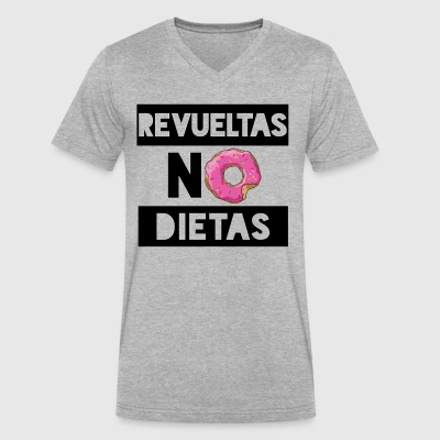 Revueltas No Dietas (Black) - Men's V-Neck T-Shirt by Canvas
