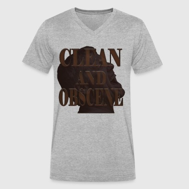 Clean and Obscene words5 - Men's V-Neck T-Shirt by Canvas
