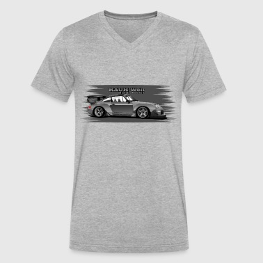 RWB number one - Men's V-Neck T-Shirt by Canvas