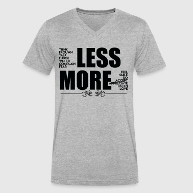 Chakras Less More Shirt - Men's V-Neck T-Shirt by Canvas