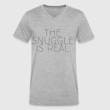 The Snuggle Is Real - Men's V-Neck T-Shirt by Canvas