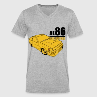Toyota AE86 - Men's V-Neck T-Shirt by Canvas