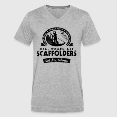 Scaffold Real Women - Men's V-Neck T-Shirt by Canvas