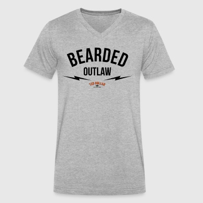 Bearded outlaw - Men's V-Neck T-Shirt by Canvas
