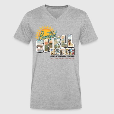 Shell Beach - Men's V-Neck T-Shirt by Canvas