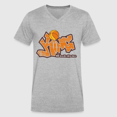 Basketball King - Men's V-Neck T-Shirt by Canvas