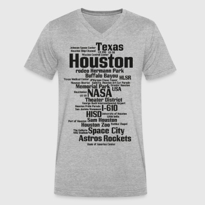 Houston (Space City, Texas, USA) - Men's V-Neck T-Shirt by Canvas