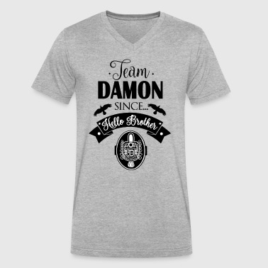 Team Damon Since Hello Brother - Men's V-Neck T-Shirt by Canvas