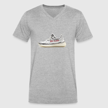 Yeezy v2 zebra - Men's V-Neck T-Shirt by Canvas