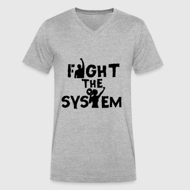 Fight The System - Men's V-Neck T-Shirt by Canvas