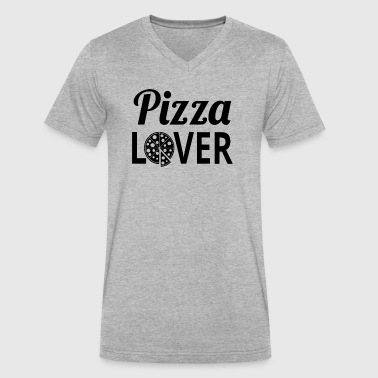 Pizza Lover - Men's V-Neck T-Shirt by Canvas