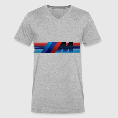 BMW M Logo - Men's V-Neck T-Shirt by Canvas