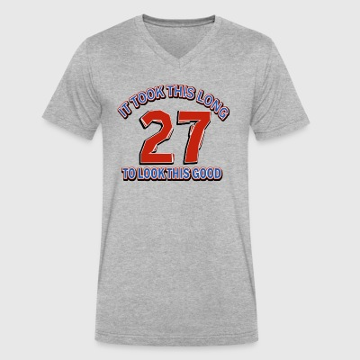 27th birthday designs - Men's V-Neck T-Shirt by Canvas