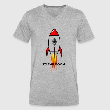 Ethereum To Moon!! - Men's V-Neck T-Shirt by Canvas