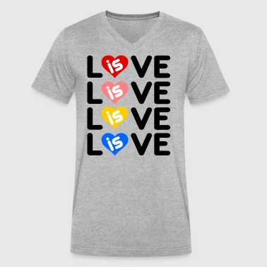 Love is Love - Men's V-Neck T-Shirt by Canvas