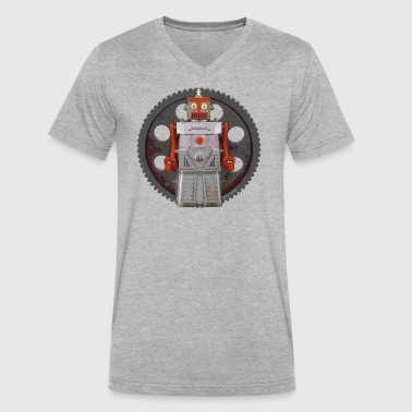 Robot Geared - Men's V-Neck T-Shirt by Canvas