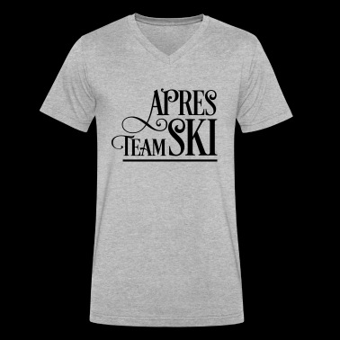 apres ski - Men's V-Neck T-Shirt by Canvas