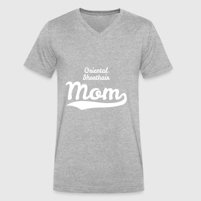 Oriental Shorthair Mom - Men's V-Neck T-Shirt by Canvas