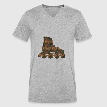 Rust Inline skate - Men's V-Neck T-Shirt by Canvas