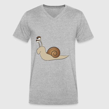 snail - Men's V-Neck T-Shirt by Canvas