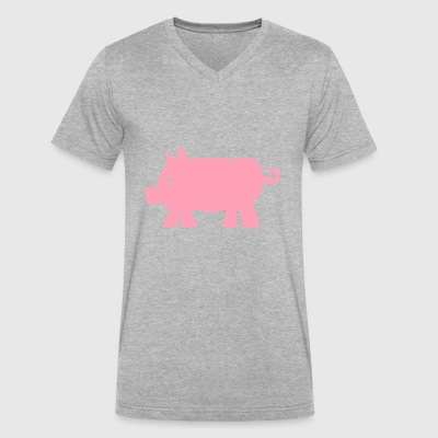 pig - Men's V-Neck T-Shirt by Canvas