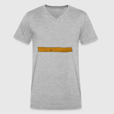 plank - Men's V-Neck T-Shirt by Canvas