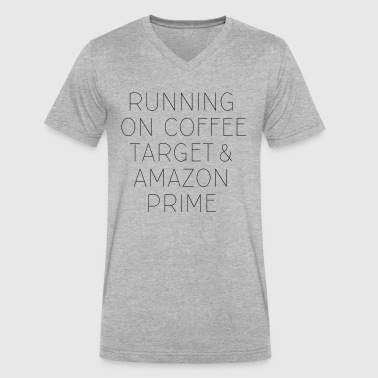 Coffee, Target & Amazon Prime - Men's V-Neck T-Shirt by Canvas