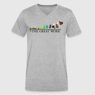 The Great Work: From the Caterpillar to the Butter - Men's V-Neck T-Shirt by Canvas
