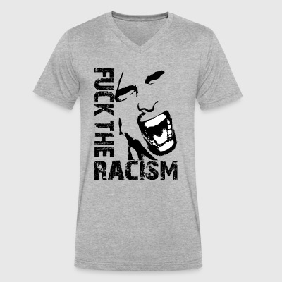 Fuck the racism / Fuck racism - Men's V-Neck T-Shirt by Canvas