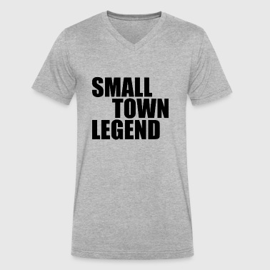 Small Town Legend - Men's V-Neck T-Shirt by Canvas