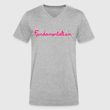Fundamentalism - Men's V-Neck T-Shirt by Canvas