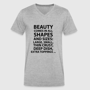 Beauty T-Shirt - Men's V-Neck T-Shirt by Canvas