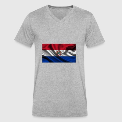 bandera paraguay - Men's V-Neck T-Shirt by Canvas