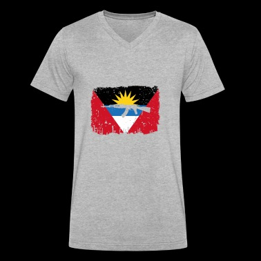 homeland fight ak 47 heimat roots Antigua Barbuda - Men's V-Neck T-Shirt by Canvas