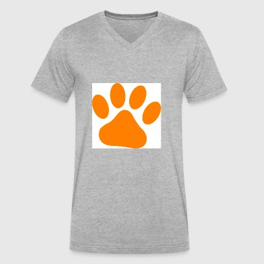 dog paw - Men's V-Neck T-Shirt by Canvas