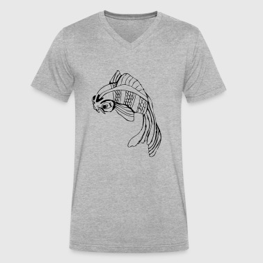 koi - Men's V-Neck T-Shirt by Canvas