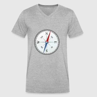compass - Men's V-Neck T-Shirt by Canvas
