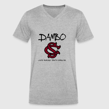 DAMBO USC GAMECOCKS - Men's V-Neck T-Shirt by Canvas