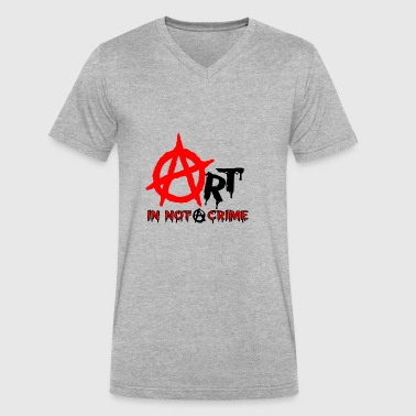 Art is Not A Crime - Men's V-Neck T-Shirt by Canvas