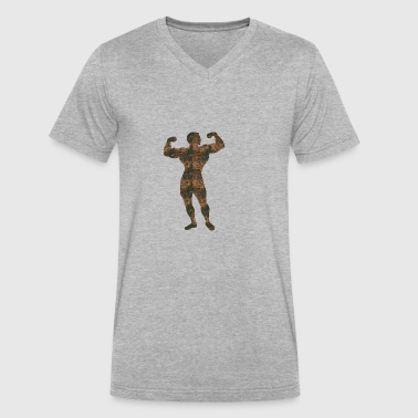 Rust Bodybuilding - Men's V-Neck T-Shirt by Canvas