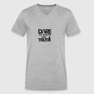 Dare To Know The Truth - Men's V-Neck T-Shirt by Canvas