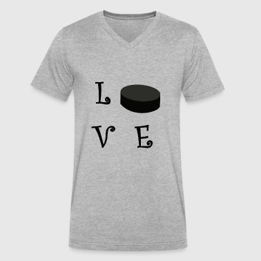 LOVE33 - Men's V-Neck T-Shirt by Canvas