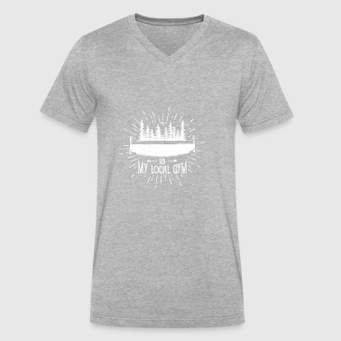 Forest is My Local Gym - Men's V-Neck T-Shirt by Canvas