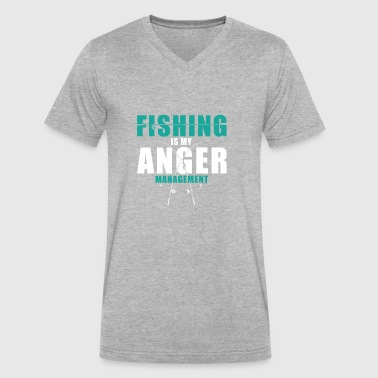 Fishing Is My Anger Management - Men's V-Neck T-Shirt by Canvas