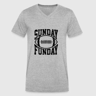Sunday Funday - Best Football Fun Sunday Statement - Men's V-Neck T-Shirt by Canvas