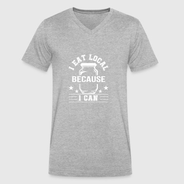 I Eat Local Because I Canning Country - Men's V-Neck T-Shirt by Canvas